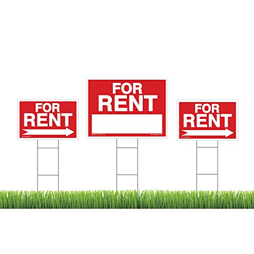 """Discount For Rent Sign Kit, ( ) """" Yard Sign, Directional"""