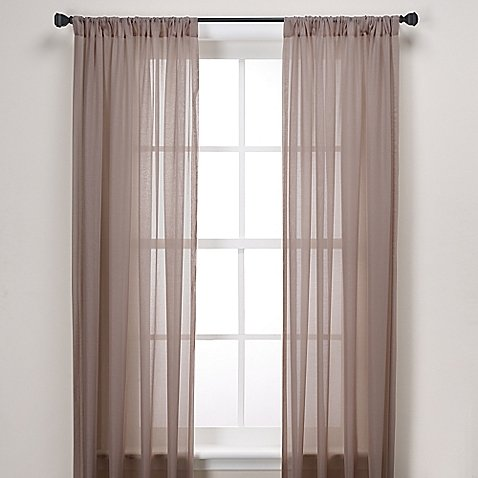 Gorgeous Home Linen ( TAUPE TAN ) 1PC Voile Sheer Curtain Panel Rod Pocket Drape / Scarf Swag Valance Window Treatment in Different Sizes Available (1 PANEL 55″ X 95″)