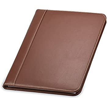 Samsill Contrast Stitch Leather Padfolio U2013 Lightweight U0026 Stylish Business  Portfolio For Men U0026 Women U2013  Resume Portfolio Holder