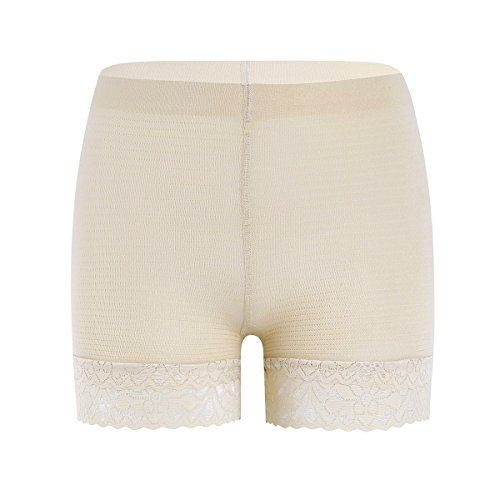 YiZYiF Women Ladies Stretchy Lace Trim Sexy Shorts Leggings Tights Underwear Nude One Size at Amazon Womens Clothing store:
