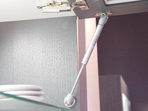 180/N Gas Strut Levante la tapa 180/N Stay Bisagra para puerta de armario suave abierto cerca cocina Hutch Pack de 2/unidades