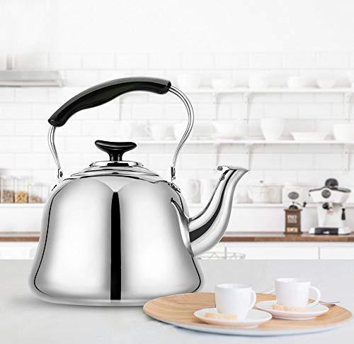 Tea Kettle Stovetop Teapot Stainless Steel Hot Water Kettle Whistling - Mirror Finsh,Folding Handle, Fast To Boil, 2 Liter Whistling Teakettles by Weftnom (Image #7)