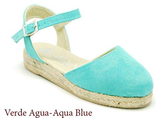 (OKAA Soft Cotton Canvas Sandal Espadrille Shoes)