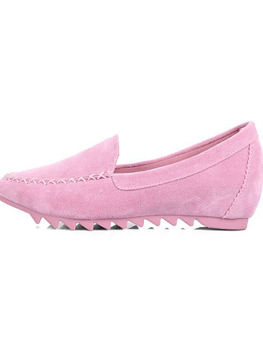 PDX/ Damenschuhe - Ballerinas - Lässig - Wildleder - Flacher Absatz - Mokassin / Rundeschuh / Geschlossene Zehe - Schwarz / Blau / Rosa / Lila , pink-us5.5 / eu36 / uk3.5 / cn35 , pink-us5.5 / eu36 /