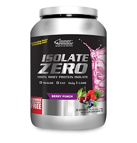 Inner Armour Isolate Zero, Berry Punch | 100% Whey Protein Isolate | 1.6 Pounds (Whey Berry)