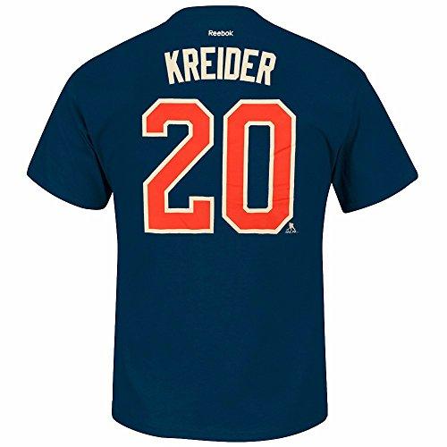 Chris Kreider New York Rangers NHL Reebok Men Navy Blue Player Name & Number Jersey T-Shirt (2XL) ()
