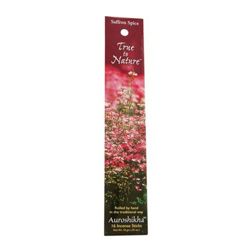 Incense Saffron Spice, 10 Gm by Auroshikha Candles and Incense (Pack of 3)