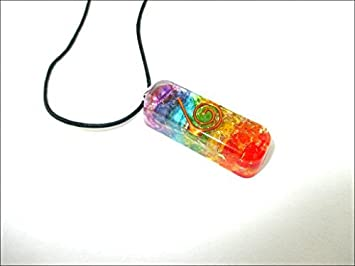 Amazon jet rainbow orgone pendant 25 inch approx gemstone jet rainbow orgone pendant 25 inch approx gemstone chakra balancing love gift healing energy progress mozeypictures Image collections