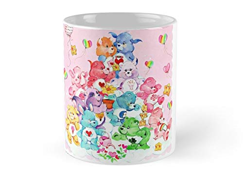 Blade South Mug Care Bear, Care Bear Cousins, Retro 80s Cartoon Cute Mug - 11oz Mug - Features wraparound prints - Made from Ceramic - Best gift for family friends