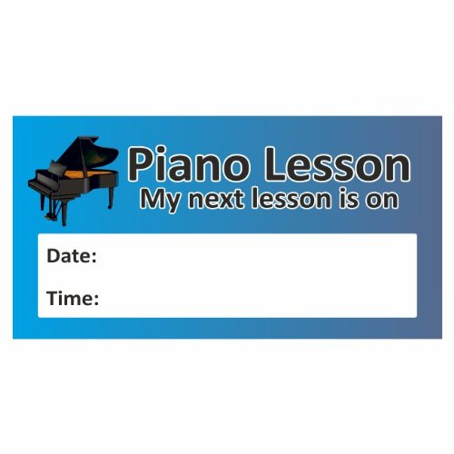 70 Piano Lesson Rectangle Stickers- Music Teacher Instructor