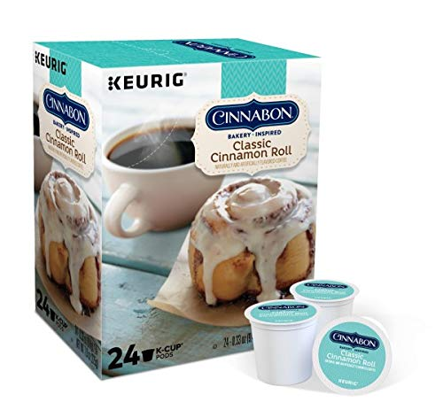 Cinnabon K-Cup Portion Pack for Keurig Brewers, Classic Cinnamon Roll, 72 Count 24-0.33oz (9.4g)/EA Net Wt 7.9oz by Cinnabon (Image #1)