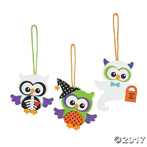 Foam Monster Owl Ornament Craft Kit (Makes 12)Halloween ()
