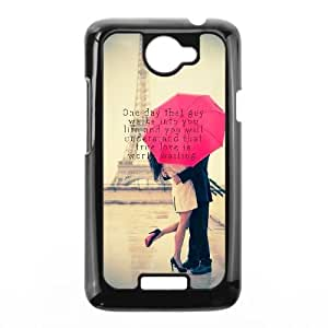 HTC One X Cell Phone Case Black quotes true love one day guy GY9162662
