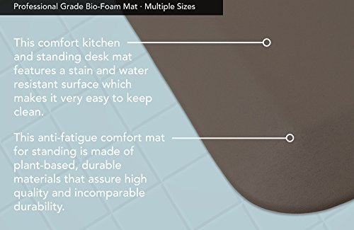 "NewLife by GelPro Professional Grade Anti-Fatigue Kitchen & Office Comfort Mat, 20x48, Stone ¾"" Bio-Foam Mat with non-slip bottom for health & wellness by NewLife by GelPro (Image #4)"