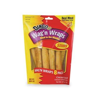 Dingo Wag N Wraps (Dingo Wag N Wraps-Vp,8 pack slims 9.75OZ)