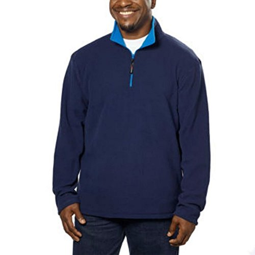 Fila Men's Polartec Fleece 1/4 Zip Pullover, Navy, 2XL
