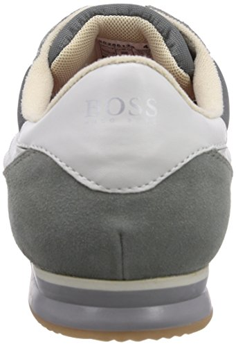 BOSS Orange Adinous 10180833 01 - zapatilla deportiva de cuero hombre, color gris, talla 43