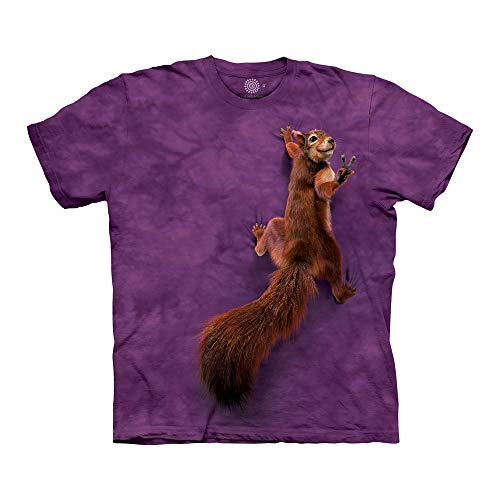 (The Mountain Unisex-Adult's Peace Squirrel, Purple, Small)