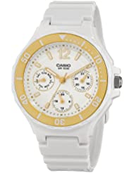 Casio Womens LRW250H-9A1 Gold Bezel Watch