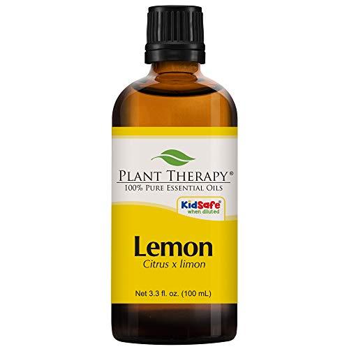 Plant Therapy Lemon Essential Oil 100 mL (3.3 oz) 100% Pure, Undiluted, Therapeutic Grade