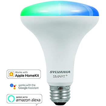 SYLVANIA SMART+ Bluetooth Full Color Light BR30 LED Light Bulb, 65-Watt Equivalent, Works with Amazon Alexa, the Google Assistant, and Apple HomeKit, ...