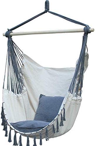 Columpio de estilo nórdico, con cojín, para niños, adultos, terraza, columpio, habitaciones, muebles de jardín: Amazon.es: Jardín