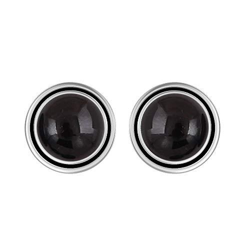 Genuine 8mm Round Shape Black Onyx Stud Earrings 925 Silver Plated Handmade Stud Earrings Jewelry For Women Girls