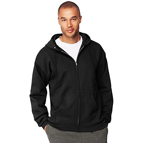 Pullover Cotton Hooded Ultimate (Hanes Men's Ultimate Cotton Heavyweight Full Zip Hoodie_Black_XL)