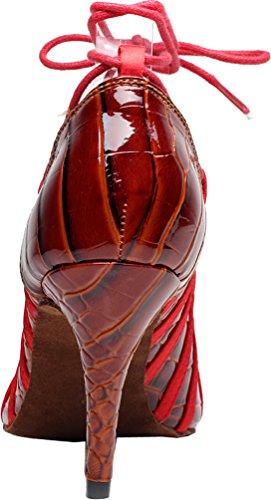 baile de talón zapatos de PU Peep mujer Rojo Toe Tango 6189 nbsp;para personalizar boda salabobo fiesta qqq 1PqXPwZ