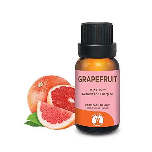 GuruNanda Grapefruit Essential Oil | Aromatherapy | GCMS Tested & Verified 100% Pure Essential Oils - Undiluted | Therapeutic Grade |  15 ml | Compare to doTERRA & Young Living