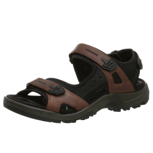 ECCO Men's Yucatan Sandal,Bison/Black/Black,46 EU (US Men's 12-12.5 M)