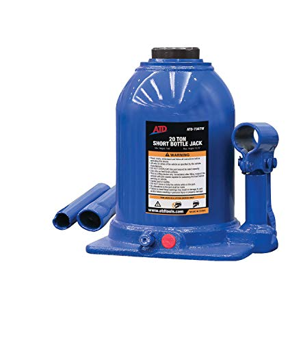 20 Ton Side Pump Bottle - ATD Tools 7387 Short Hydraulic Bottle Jack - 20 Ton Capacity