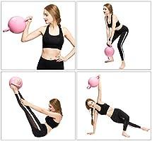 ZUZEN Fitness Mancuerna Yoga Fitness Caldera Mancuerna Material de PVC Agua Libre Ejercicio Muscular, Ajuste Muscular, Pilates Fitness,Blue