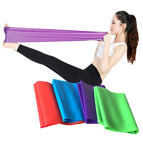 Glumes Resistance Bands Workout Exercise Bands -Stretch Bands Best for Body Stretching, Powerlifting,Pilates,Resistance Training, Cross fit Fitness, Yoga, Rehab and Home Fitness