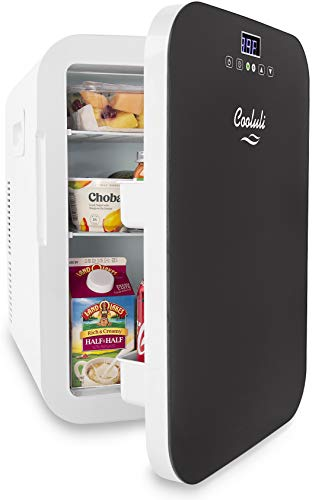 Cooluli Concord 20-liter Compact Cooler/Warmer Mini Fridge/Wine Cooler with Digital Thermostat + Dual-Core Cooling for Cars, Road Trips, Homes, Offices & Dorms by Cooluli (Image #1)