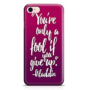 Loud Universe Aladdin Motivation Quote iPhone 8 Plus Case Aladdin Classic Cartoon Network iPhone 8 Plus Cover with 3d Wrap around Edges