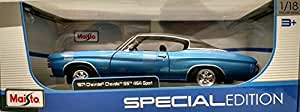 Chevy Chevelle SS 454 Coupe 1:18 Scale Diecast in Blue: Toys & Games