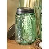 CTW Home Collection - Reproduction Vintage Green Glass Pint Mason Jar