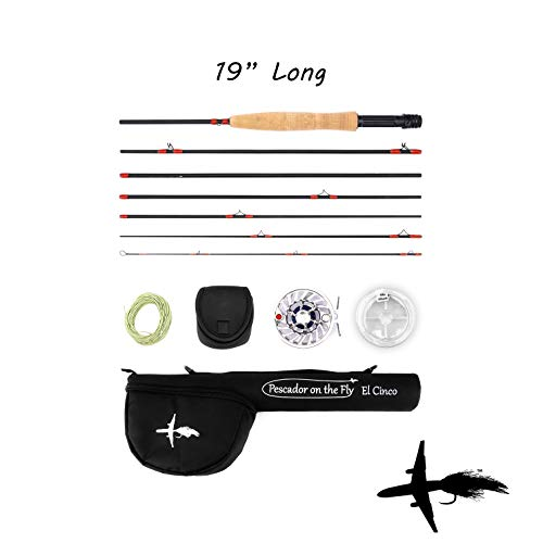 Premium Fly Fishing Rod & Reel Combo | Travel Size | TSA Approved | Convenient Size Case | 7 Piece Set | IM10 Graphite Fly Rod | Stainless Steel Reel | Lightweight | 9 Feet Long | 5 Weight (Best Trout Fly Reel For The Money)