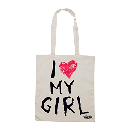 Borsa SAN VALENTINO COPPIA- I LOVE MY GIRL - Sand - MUSH by Mush Dress Your Style