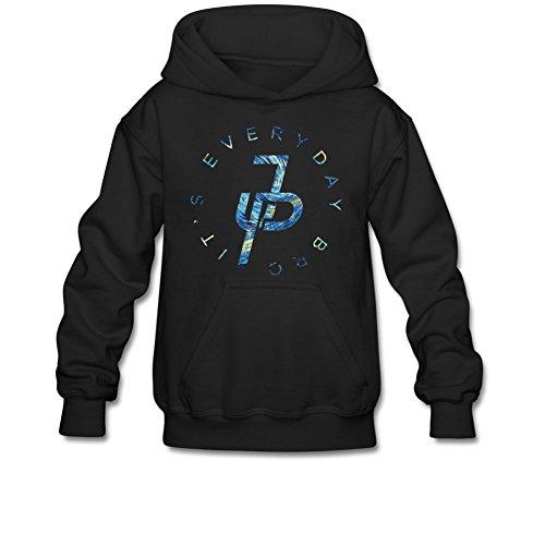 Aliensee Youth Jake Paul It's Every Day Van Gogh Hoodie Sweatshirt Suitable for 10-15yr old M Black