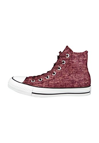 1U452 Converse CT HI sudadera gris Sparkle Knit Pink Blush/Deep Bordeaux/White Weinrot