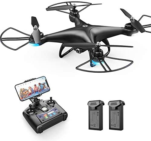 Holy Stone HS110D FPV RC Drone with 1080P HD Camera Live Video 120°Wide-Angle WiFi Quadcopter with Gravity Sensor, Voice Control, Gesture Control, Altitude Hold, Headless Mode, three-D Flip RTF 2 Batteries