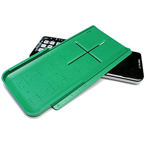 Plus Ruler (EZ Graphing Green Hard Slide Cover with built in rulers for TI 84 Plus CE)