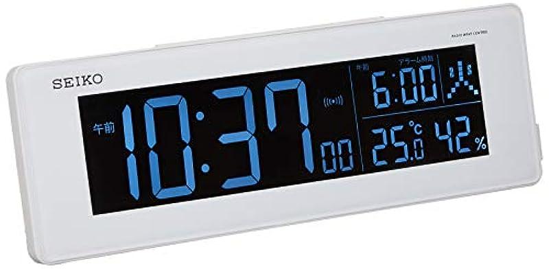 세이코 디지털 전파 교류식 알람 시계 DL205W