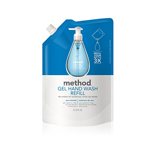 - Method Gel Hand Soap Refill, Sea Minerals, 34 Ounce (Pack 6)