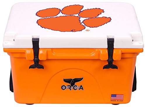 ORCA 26 Cooler Clemson University, Orange/White