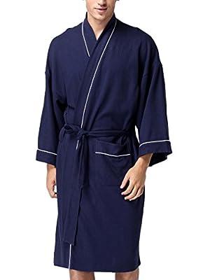 Coser Paradise Adult Unisex Bathrobe Waffle Cotton Rabe Spa Robe Sleepwear