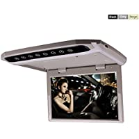 In Car Roof Mounted Overhead Flip Down MP3 MP4 MP5 Video Media Player LED HD Monitor with HDMI SD AV Input 16GB Card + Card Reader (10 Inch Grey Color)by HitCar