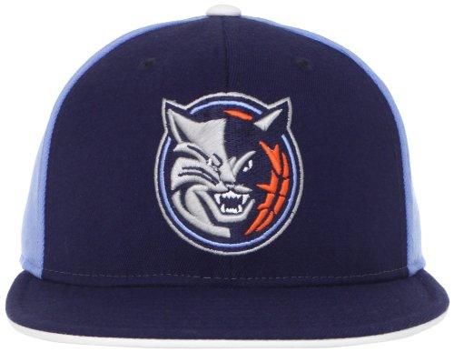 Cap Wool Charlotte (NBA Charlotte Bobcats Flat Brim Flex Fit Wool Hat, Small/Medium)